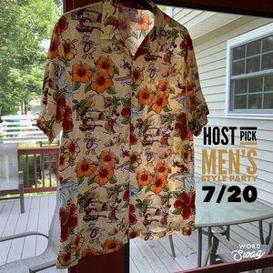 🎉Host Pick🎉Disney World NWT Hawaiian Shirt Large